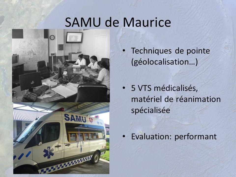 SAMU de Maurice Techniques de pointe (géolocalisation…)