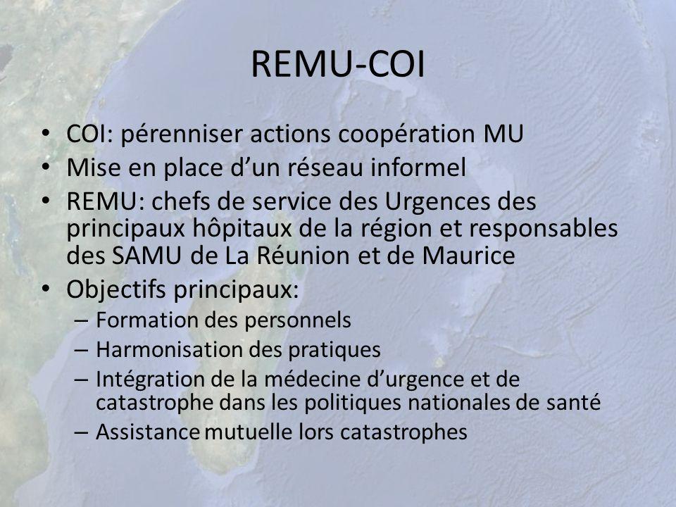 REMU-COI COI: pérenniser actions coopération MU