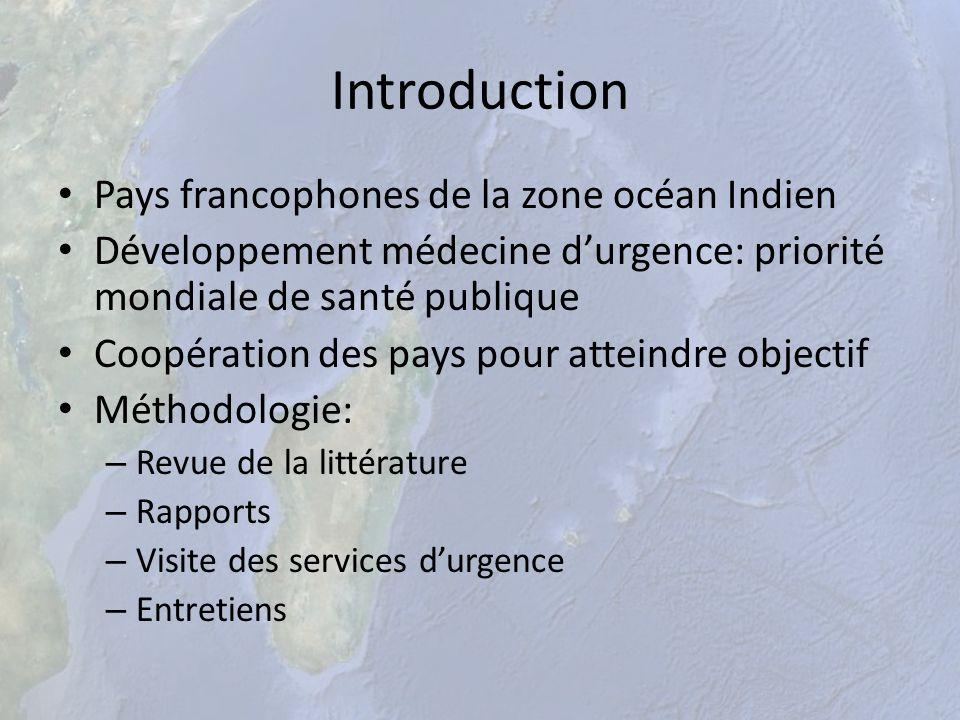 Introduction Pays francophones de la zone océan Indien