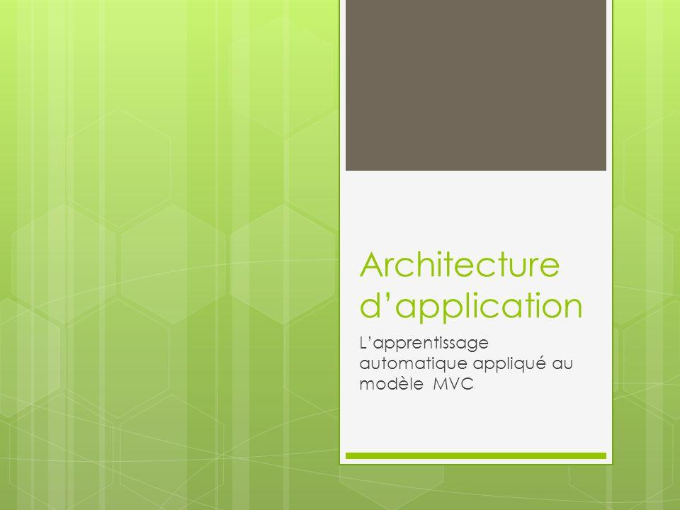 Architecture d'application