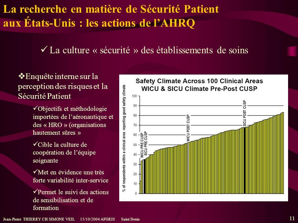 La recherche en matière de Sécurité Patient aux États-Unis : les actions de l'AHRQ