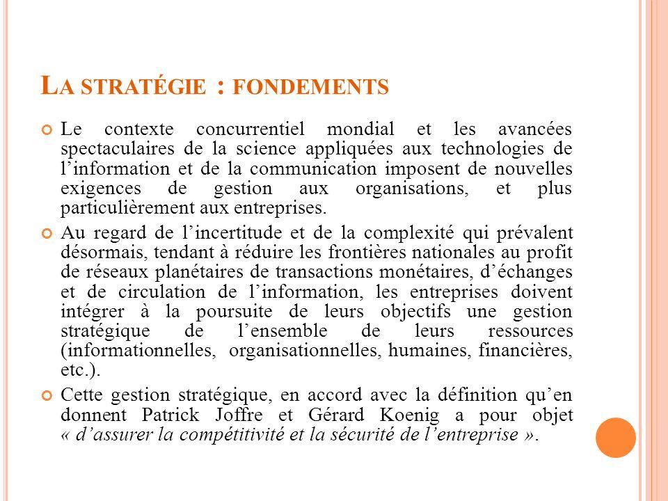 La stratégie : fondements