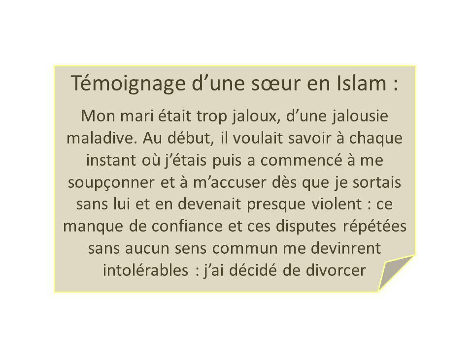 Témoignage d'une sœur en Islam :