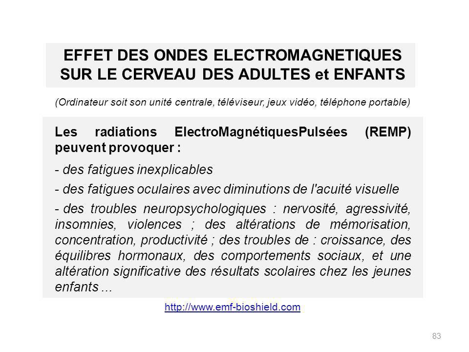 EFFET DES ONDES ELECTROMAGNETIQUES