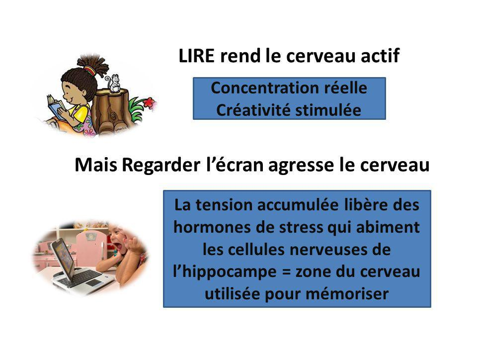 LIRE rend le cerveau actif
