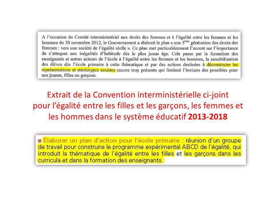 Extrait de la Convention interministérielle ci-joint