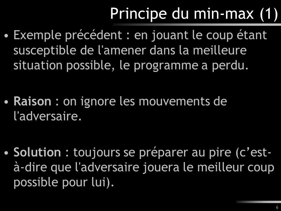 Principe du min-max (1)