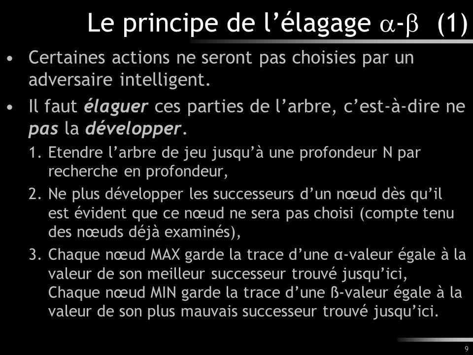 Le principe de l'élagage - (1)