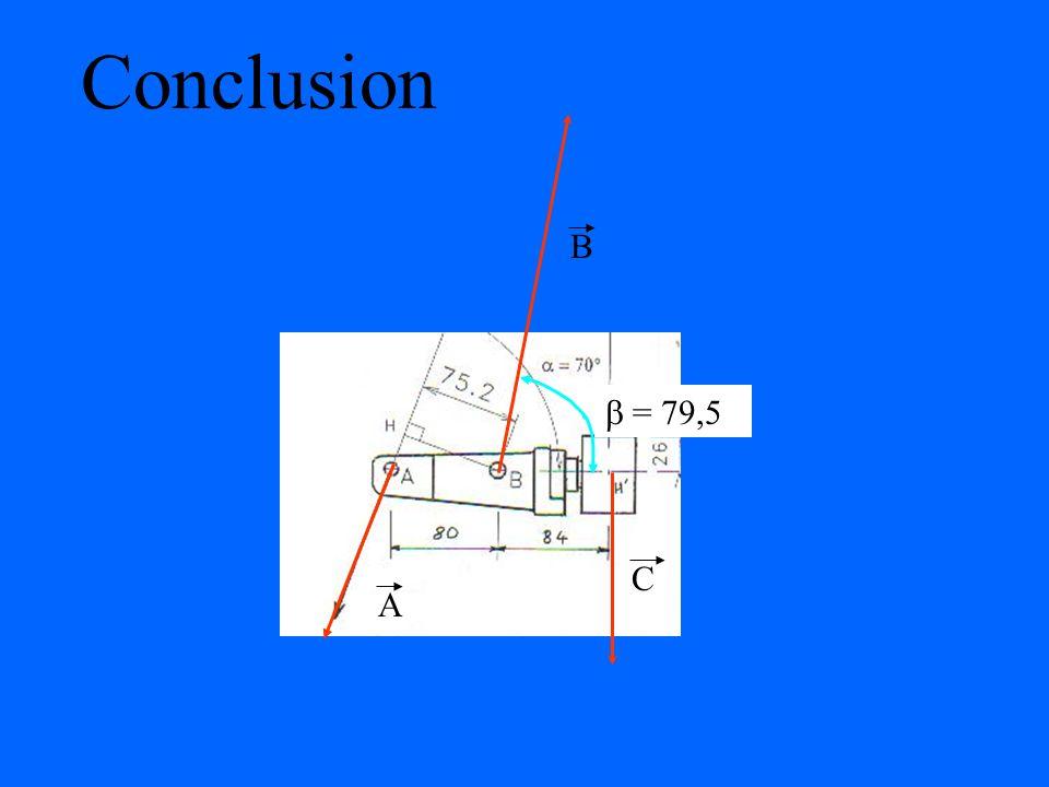 Conclusion B  = 79,5 A C