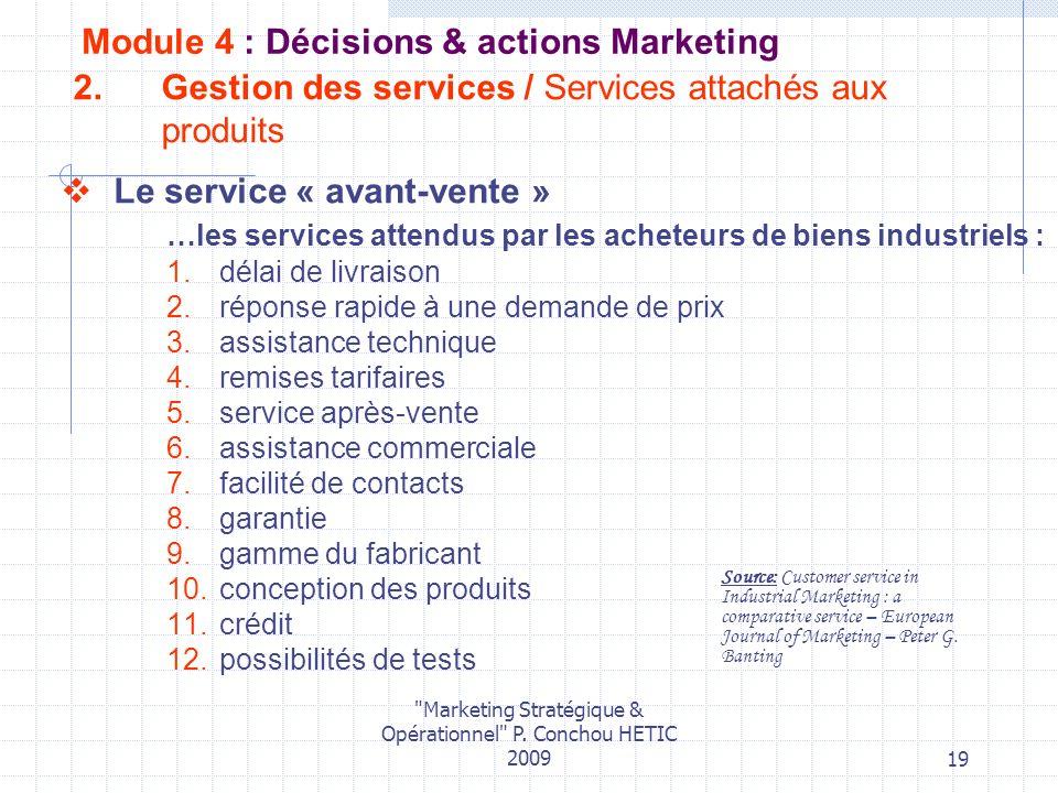 Gestion des services / Services attachés aux produits