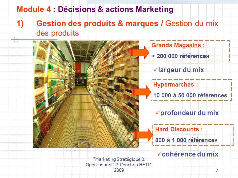 Gestion des produits & marques / Gestion du mix des produits