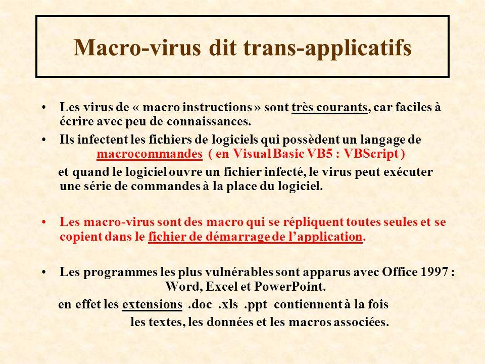 Macro-virus dit trans-applicatifs