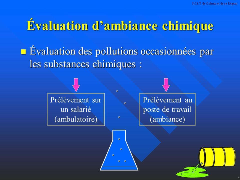 Évaluation d'ambiance chimique