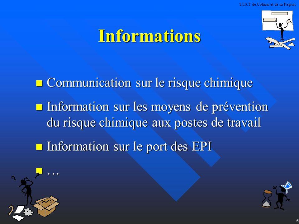 Informations Communication sur le risque chimique
