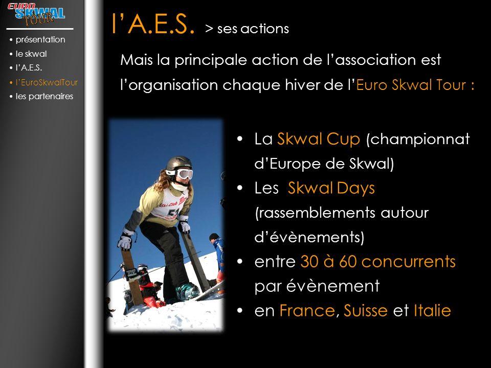 l'A.E.S. > ses actions La Skwal Cup (championnat d'Europe de Skwal)