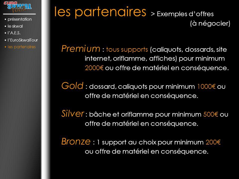 les partenaires > Exemples d'offres