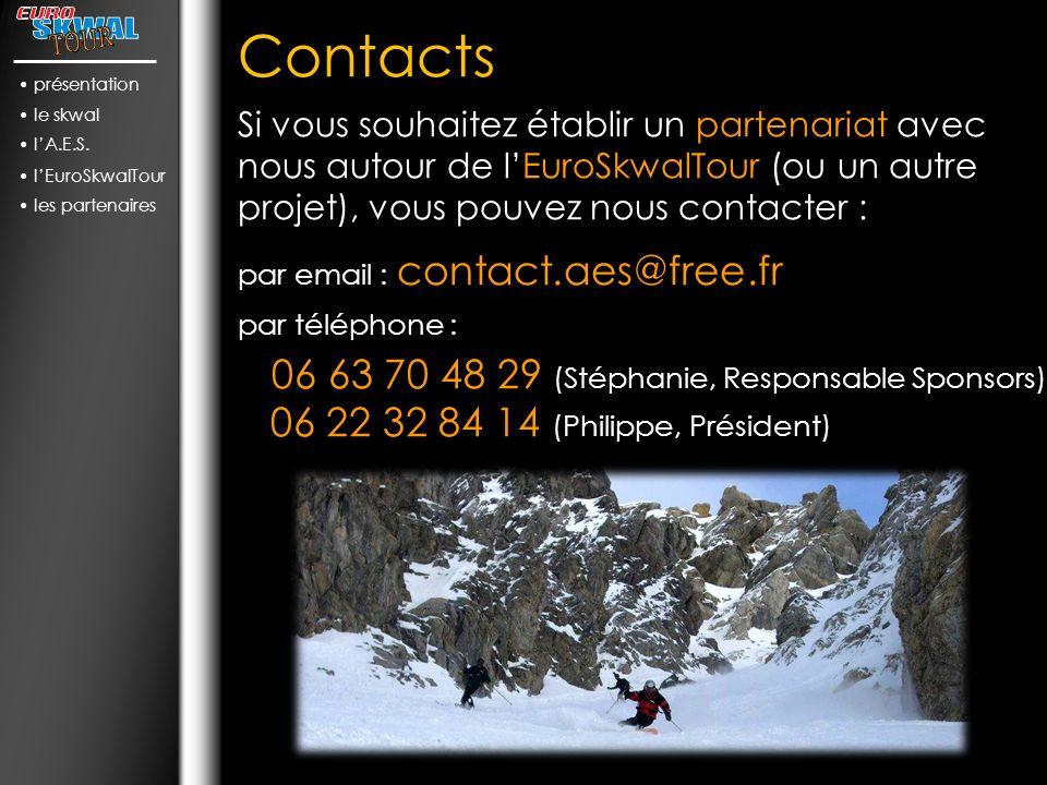présentation le skwal. l'A.E.S. l'EuroSkwalTour. les partenaires. Contacts.