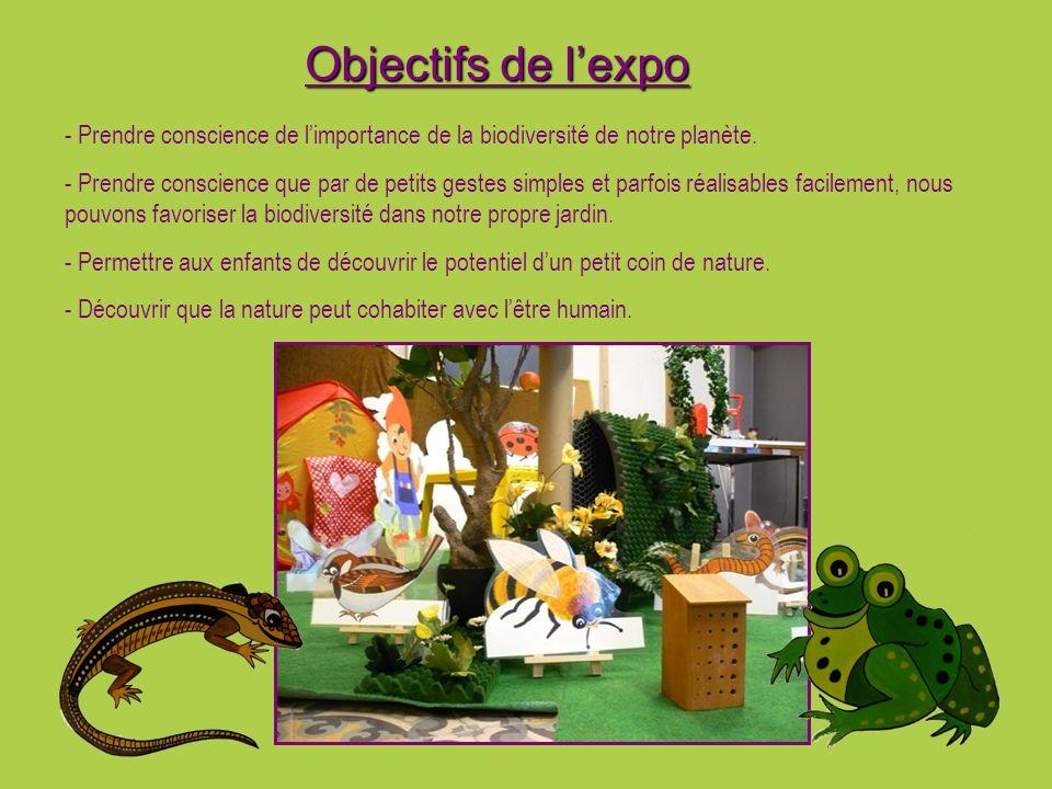 Objectifs de l'expo - Prendre conscience de l'importance de la biodiversité de notre planète.