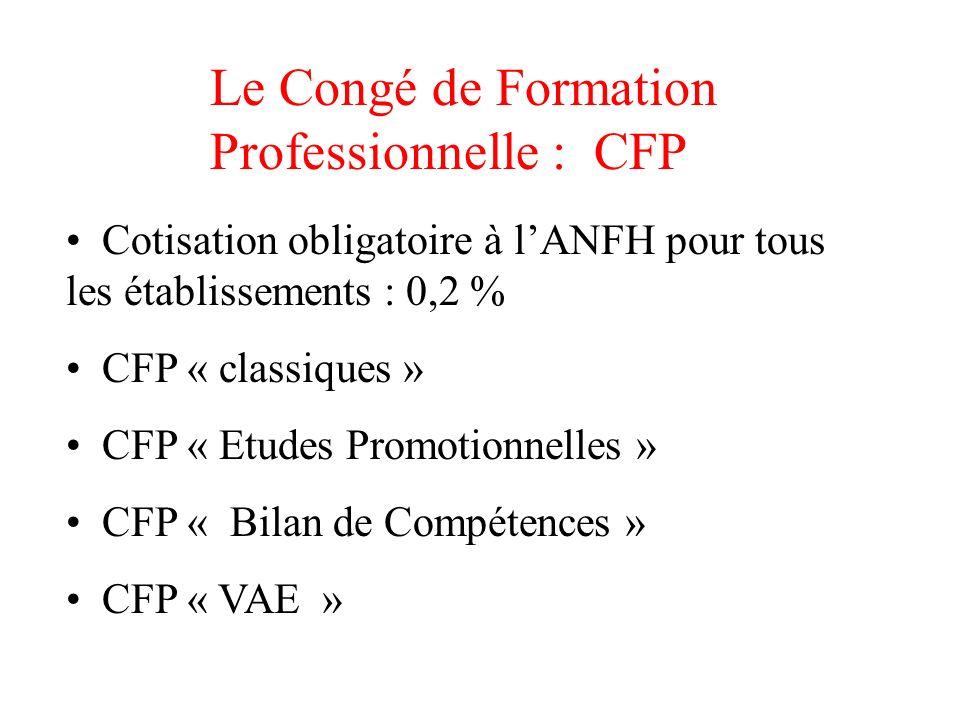 Le Congé de Formation Professionnelle : CFP