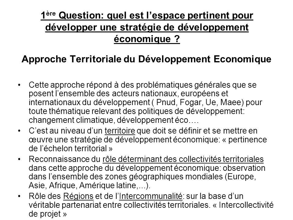 Approche Territoriale du Développement Economique