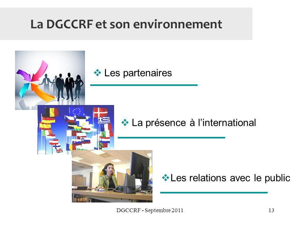 La DGCCRF et son environnement