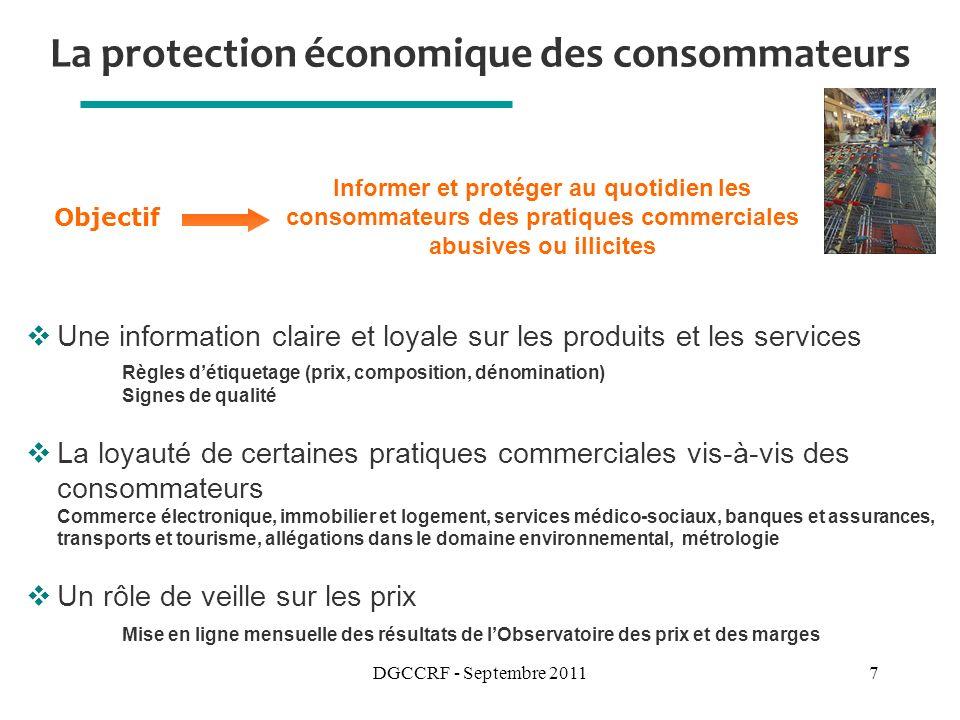 La protection économique des consommateurs
