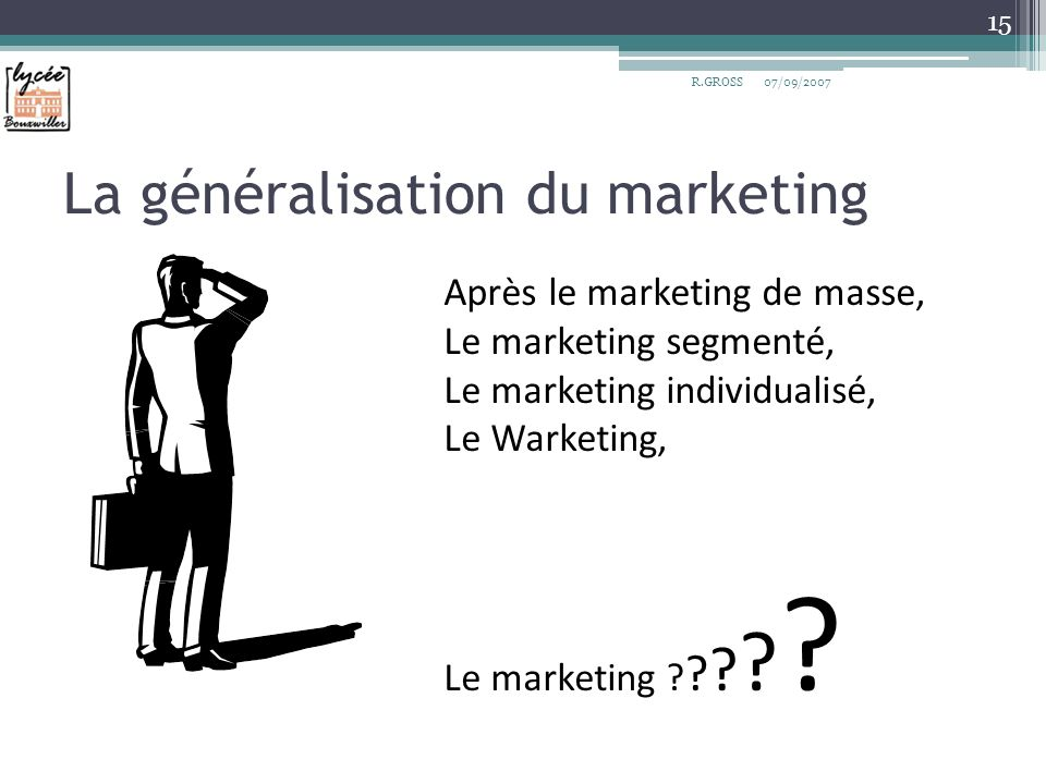 La généralisation du marketing