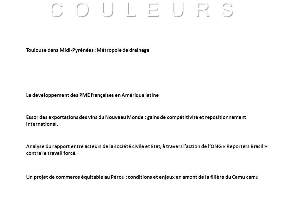 Toulouse dans Midi-Pyrénées : Métropole de drainage