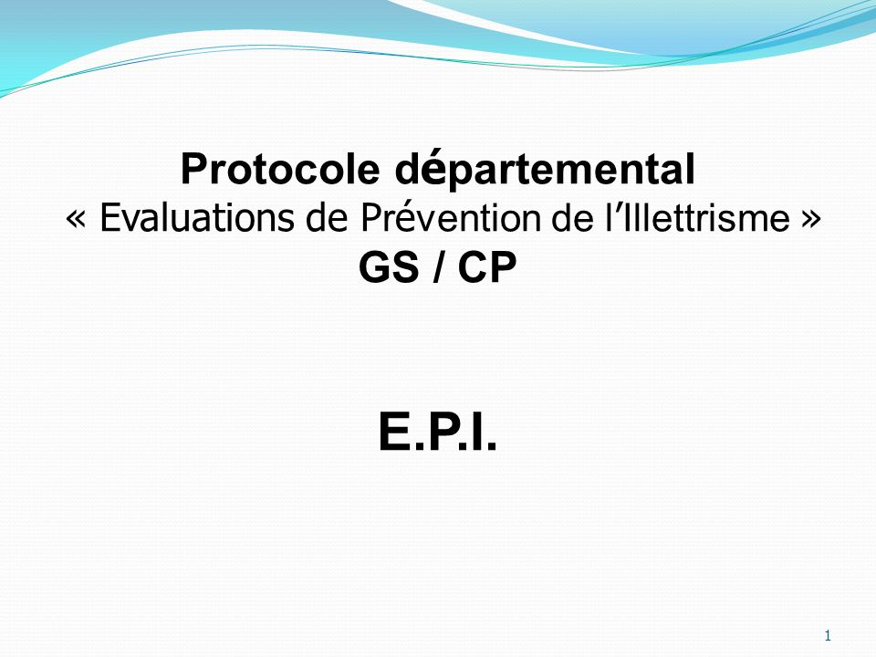 Protocole départemental