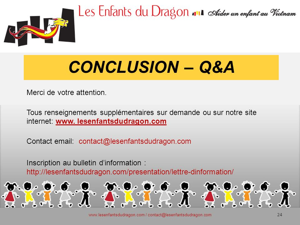 www.lesenfantsdudragon.com / contact@lesenfantsdudragon.com