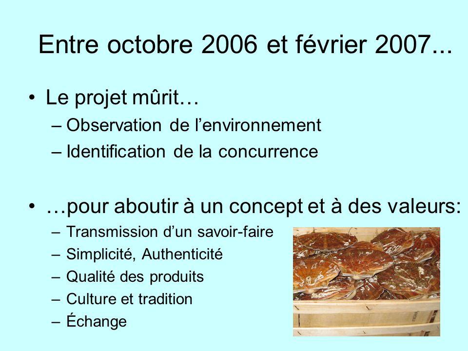 Entre octobre 2006 et février 2007...