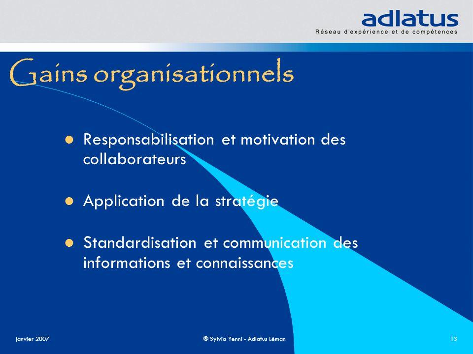 Gains organisationnels