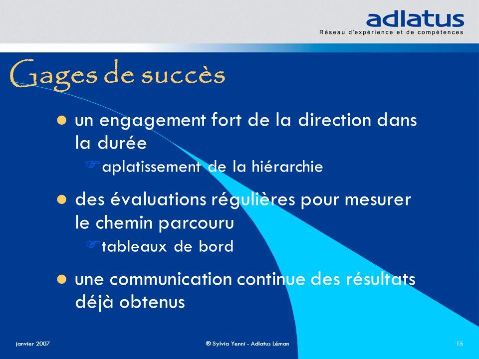 Gages de succès un engagement fort de la direction dans la durée