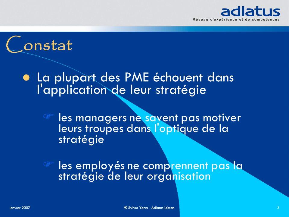 Constat La plupart des PME échouent dans l application de leur stratégie.