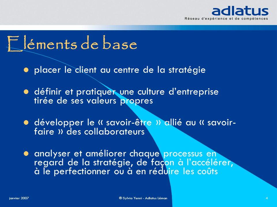 Eléments de base placer le client au centre de la stratégie