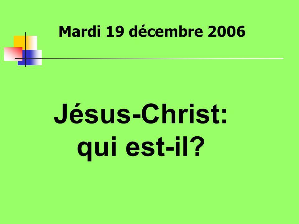 Jésus-Christ: qui est-il