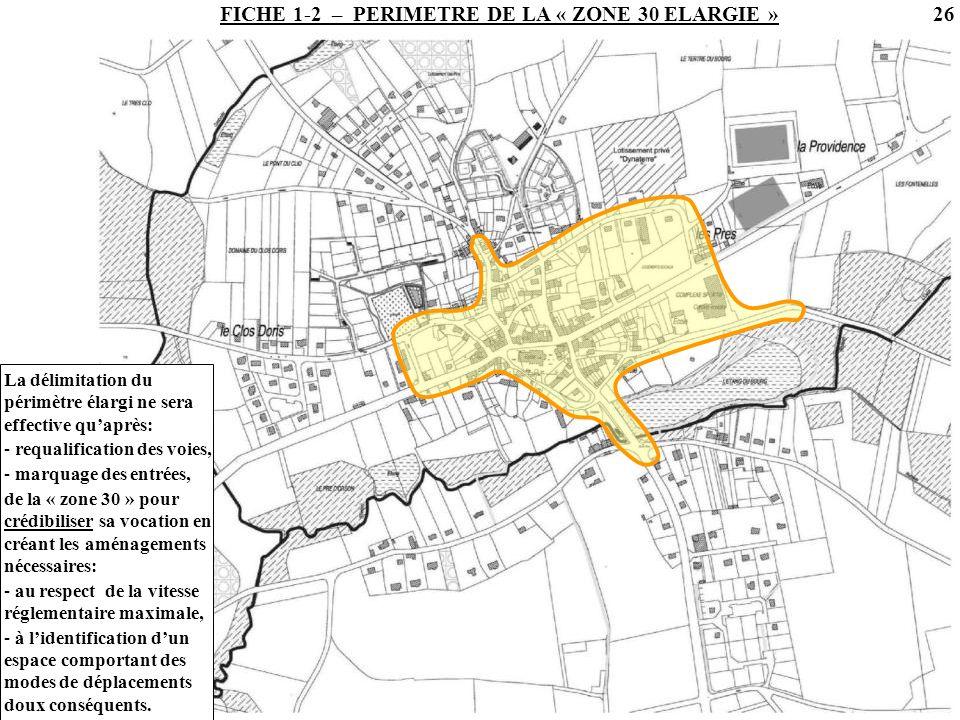 FICHE 1-2 – PERIMETRE DE LA « ZONE 30 ELARGIE »