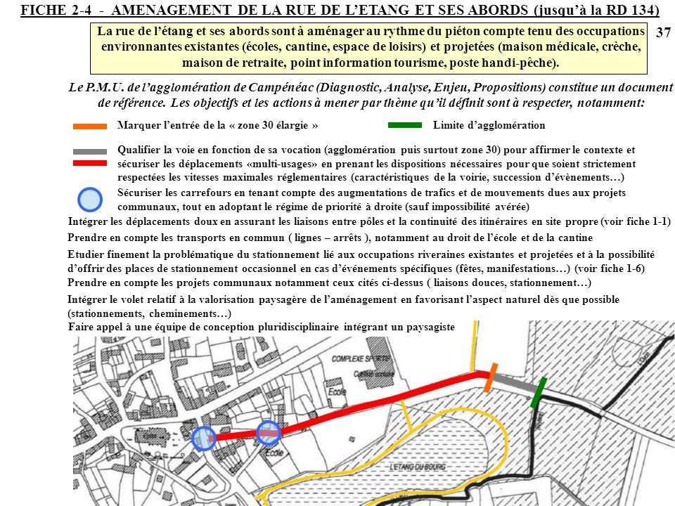 FICHE 2-4 - AMENAGEMENT DE LA RUE DE L'ETANG ET SES ABORDS (jusqu'à la RD 134)