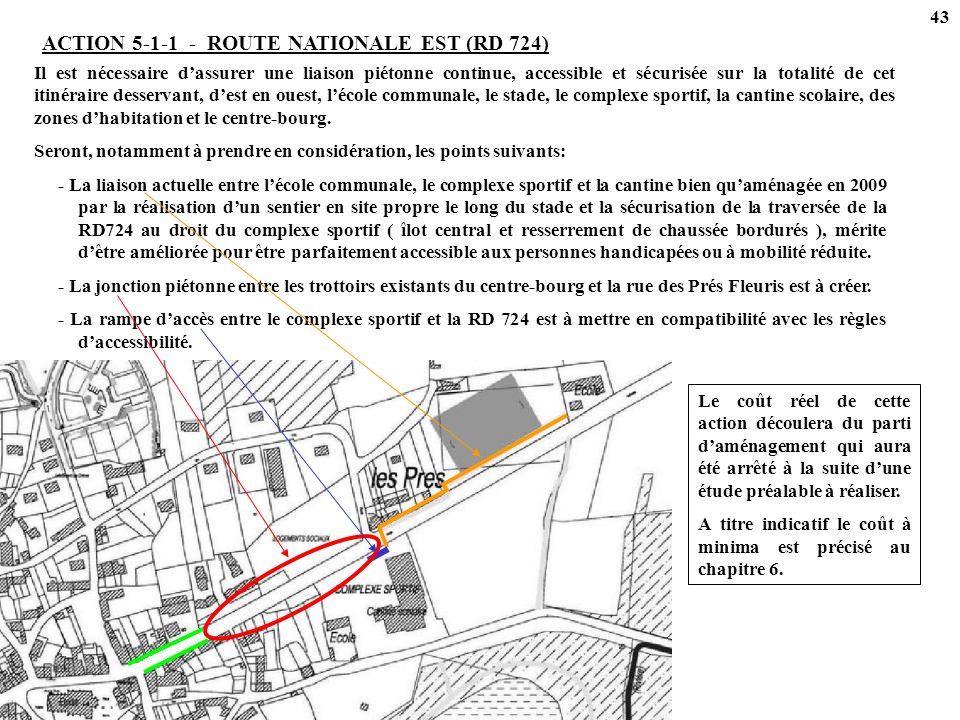 ACTION 5-1-1 - ROUTE NATIONALE EST (RD 724)