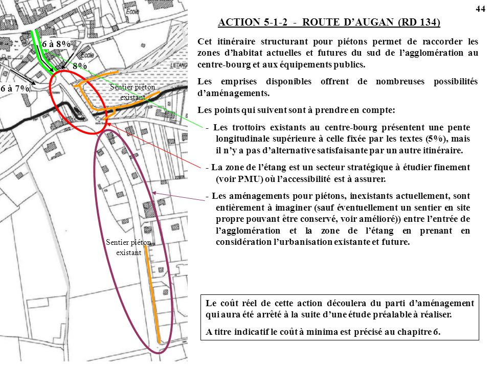 ACTION 5-1-2 - ROUTE D'AUGAN (RD 134)