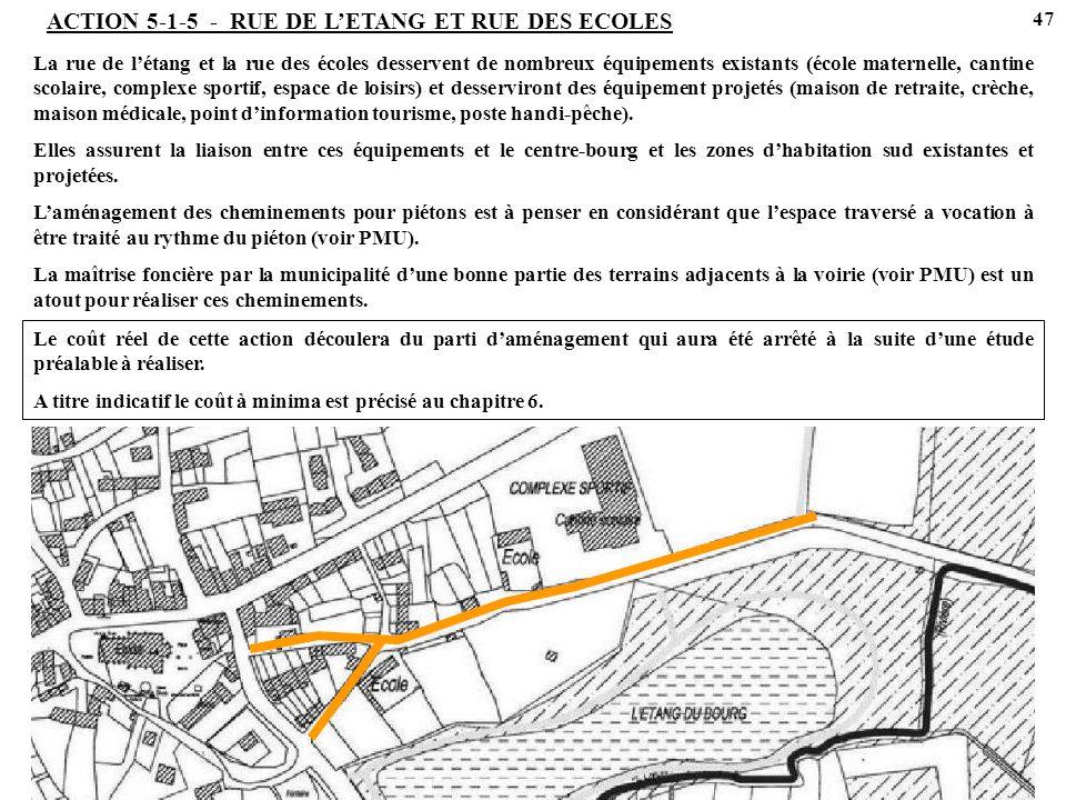 ACTION 5-1-5 - RUE DE L'ETANG ET RUE DES ECOLES