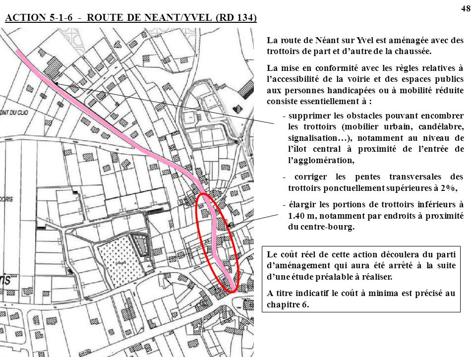 ACTION 5-1-6 - ROUTE DE NEANT/YVEL (RD 134)