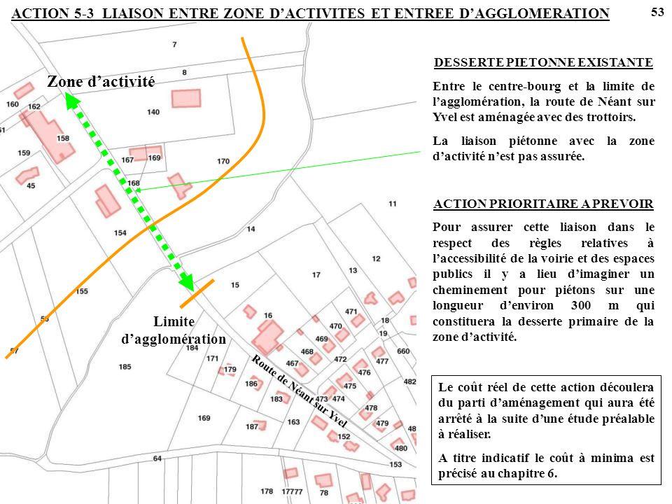 ACTION 5-3 LIAISON ENTRE ZONE D'ACTIVITES ET ENTREE D'AGGLOMERATION