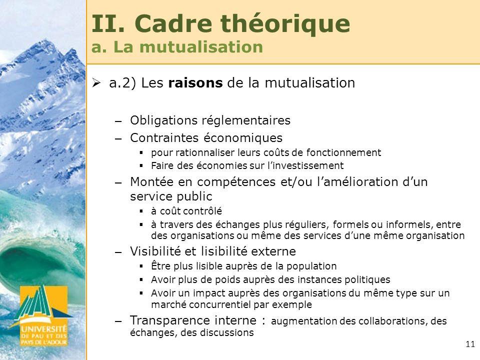 II. Cadre théorique a. La mutualisation