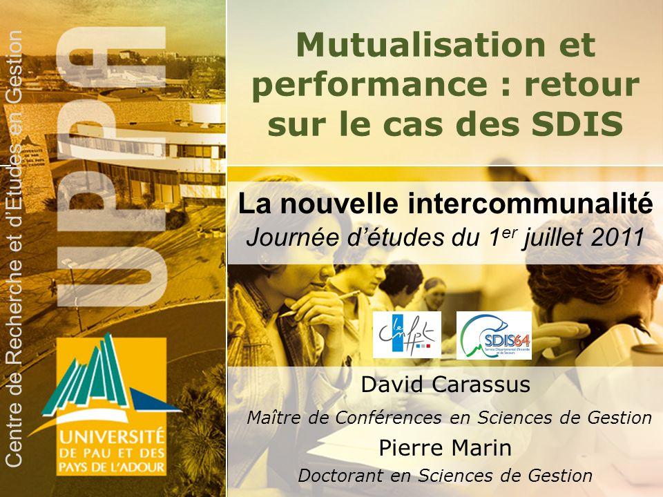 Mutualisation et performance : retour sur le cas des SDIS