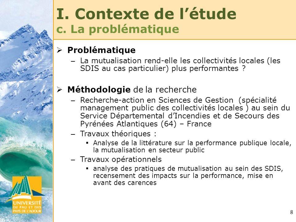 I. Contexte de l'étude c. La problématique