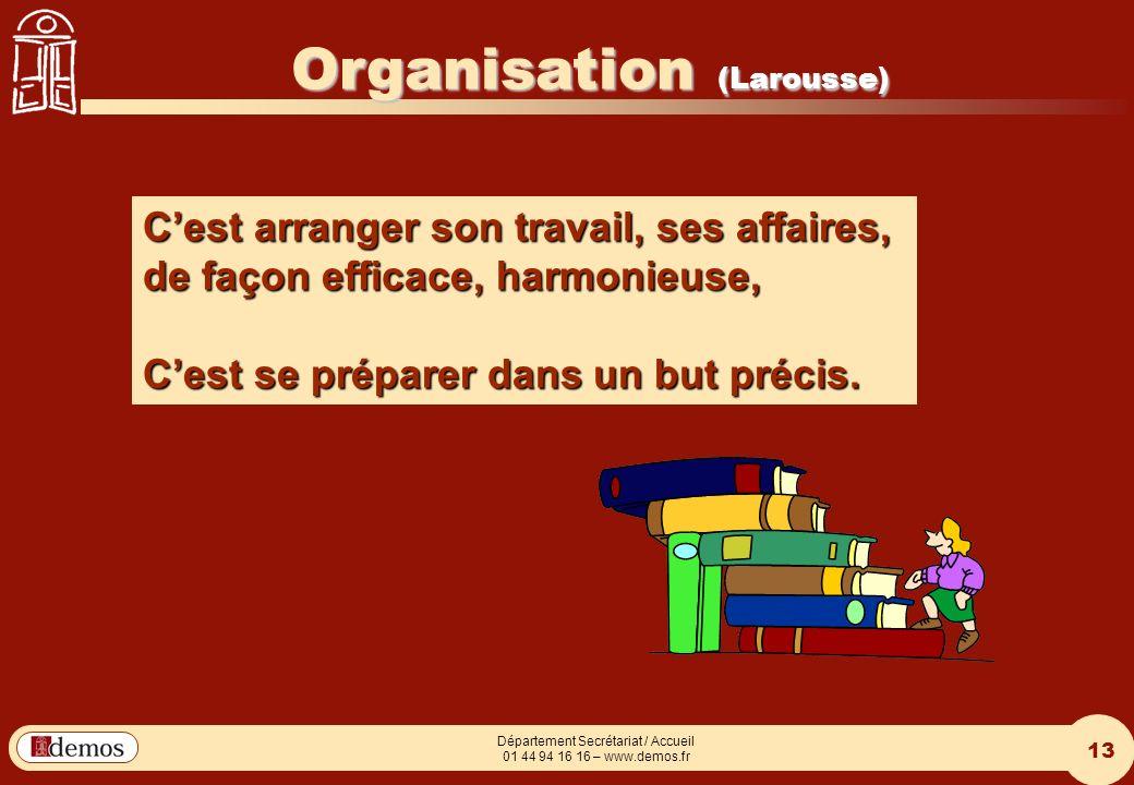 Organisation (Larousse)