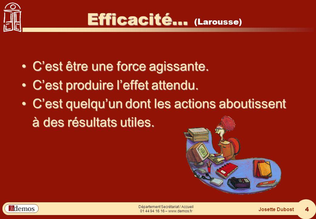 Efficacité… (Larousse)