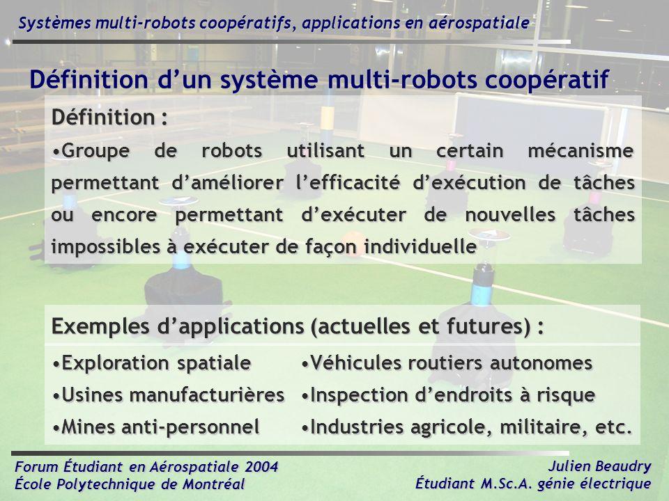 Définition d'un système multi-robots coopératif