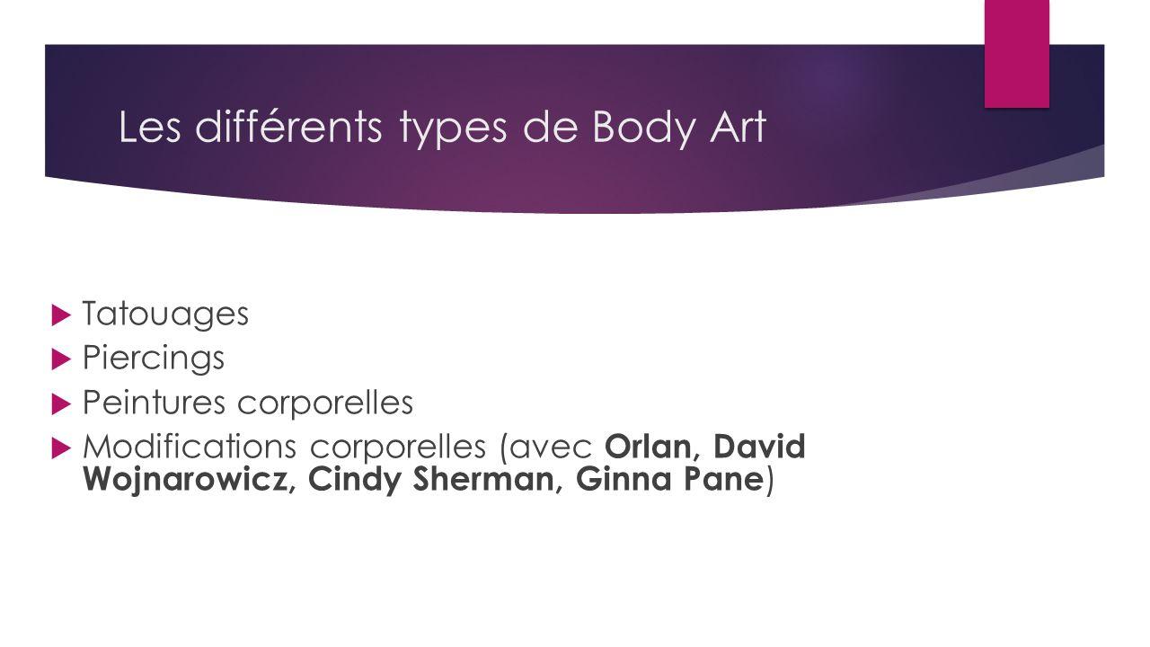 Les différents types de Body Art